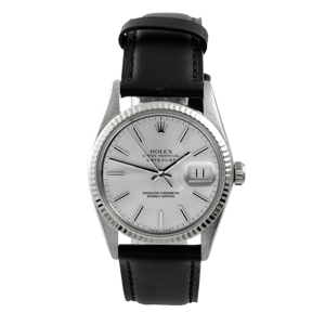 Men's Stainless Steel Datejust on Leather Strap