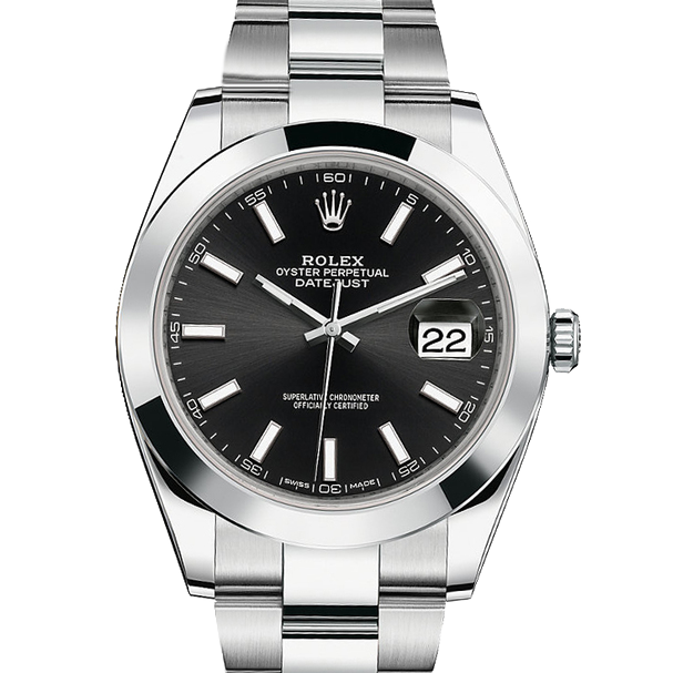 Rolex Datejust II 126300 Stainless Steel - Black Index Dial - Smooth Bezel - Oyster Bracelet - New Style 41mm - UNUSED