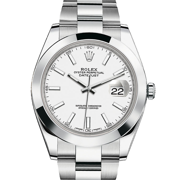 Rolex Datejust II 41 126300 Stainless Steel White Index Dial & Smooth Bezel On Oyster Bracelet - Unused Men's Watch
