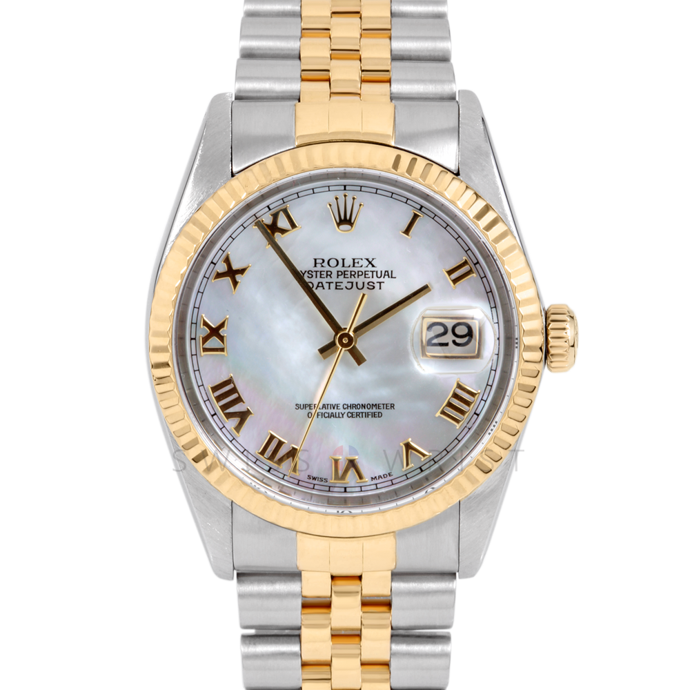 Rolex Datejust 16013 Mother Of Pearl Roman Numeral Dial