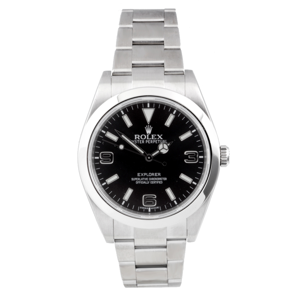 Rolex Explorer 214270 39mm Stainless Steel Watch with Black Dial on an Oyster Bracelet - Pre Owned