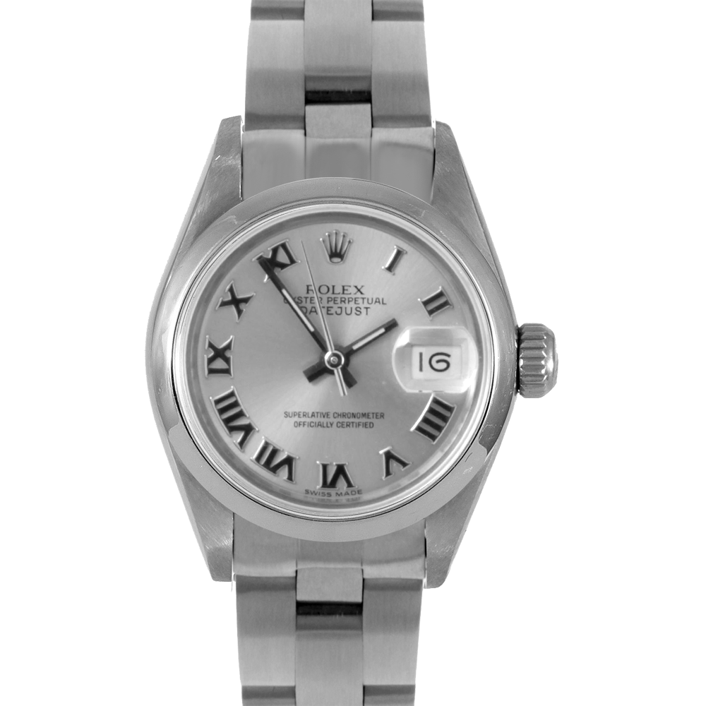 Rolex Datejust 69160 - Silver Roman Dial - Stainless Steel - Smooth Bezel On A Oyster Bracelet - Pre-Owned