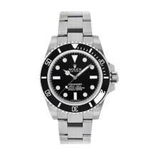 New Rolex Men's Submariner Watch - No Date Black Dial - 60 Minute Ceramic Bezel - Oyster Bracelet 40 MM 114060