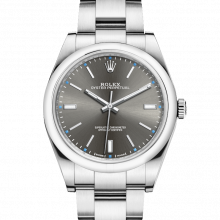 Rolex Oyster Perpetual 114300 39mm Stainless Steel, Dark Rhodium Dial on an Oyster Bracelet - UNUSED