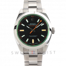 Rolex Milgauss 116400 - Black Dial - Stainless Steel - Green Crystal - 40mm - Pre-Owned