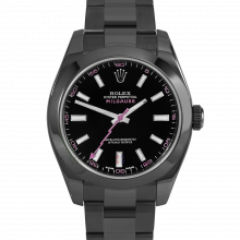 Rolex Milgauss 116400 PVD Steel, Custom Black Dial & Pink Markers with Smooth Bezel on an Oyster Bracelet - Pre-Owned Watch