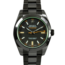 Rolex Milgauss 116400 - Black Dial - Stainless Steel With Black DLC/PVD Coating - Green Crystal - 40mm - Pre-Owned