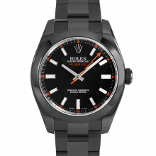 Rolex Milgauss 116400 - Black Dial - Stainless Steel With Black DLC/PVD - 40mm - Pre-Owned