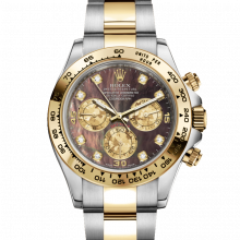 Rolex Daytona 116503 Black Mother of Pearl Diamond Dial 18K Yellow Gold & Stainless Steel - Oyster Bracelet - UNUSED