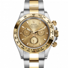 Rolex Daytona 116503 Champagne Dial 18K Yellow Gold & Stainless	Steel - Oyster Bracelet - UNUSED