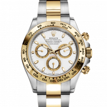 Rolex Daytona 116503 White Dial 18K Yellow Gold & Stainless Steel - Oyster Bracelet - UNUSED