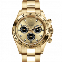 Rolex Daytona 116508 Champagne & Black Dial 18K Yellow Gold Case - Oyster Bracelet - UNUSED