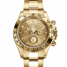 Rolex Daytona 116508 Champagne Dial 18K Yellow Gold Case - Oyster Bracelet - UNUSED