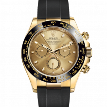 Rolex Daytona 116518 Champagne Dial - 18K Yellow Gold - Oysterflex Rubber Strap - UNUSED