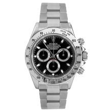 Rolex Mens Daytona 40MM 116520 - Stainless Steel - Black Dial - Pre-Owned