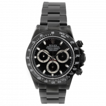 Rolex Mens Daytona 116520 - Stainless Steel With Black DLC/PVD Coating - Black Dial - Pre-Owned