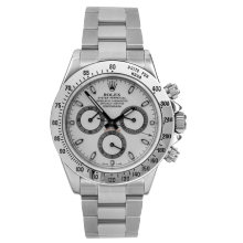Rolex Mens Daytona 116520 40 MM - Stainless Steel - White Dial - Pre-Owned