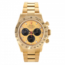 Pre-owned Rolex Mens Daytona Watch - 18K Yellow Gold Champagne Paul Newman Dial 116528 40MM Model