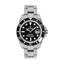 New Rolex Men's Submariner Watch - Stainless Steel Black Dial - 60 Minute Ceramic Bezel - Oyster Bracelet 40 MM 116610