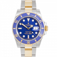 Rolex Submariner 116613 18K Yellow Gold & Stainless Steel 40mm w/ Ceramic Blue Bezel - Pre Owned