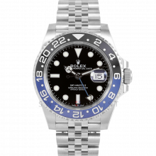 "Rolex GMT-Master II 116710 BLNR Stainless Steel 40mm, Black & Blue ""Batman"" Cerachrom / Ceramic Bezel on a Jubilee Bracelet - Unworn"