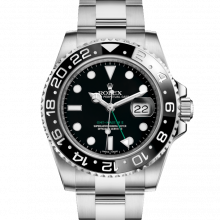Rolex 116710 LN GMT-Master II Stainless Steel 40mm, Black Cerachrom / Ceramic Bezel on an Oyster Bracelet - UNUSED