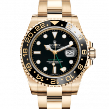 Rolex 116718 GMT-Master II 18K Yellow Gold 40mm, Black Dial,	Cerachrom / Ceramic Bezel on an Oyster Bracelet - UNUSED