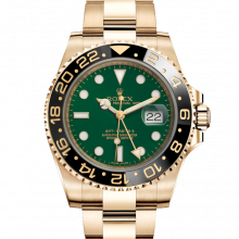 Rolex 116718 GMT-Master II 18K Yellow Gold 40mm, Green Dial, Cerachrom / Ceramic Bezel on an Oyster Bracelet - UNUSED