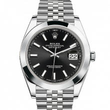 Rolex Datejust II 41 126300 Stainless Steel Black Index Dial & Smooth Bezel On Jubilee Bracelet - Unused Men's Watch