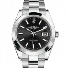 Rolex Datejust II 41 126300 Stainless Steel Black Index Dial & Smooth Bezel On Oyster Bracelet - Unused Men's Watch
