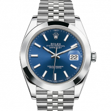 Rolex Datejust II 41 126300 Stainless Steel Blue Index Dial & Smooth Bezel On Jubilee Bracelet - Unused Men's Watch