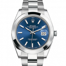 Rolex Datejust II 41 126300 Stainless Steel Blue Index Dial & Smooth Bezel On Oyster Bracelet - Unused Men's Watch