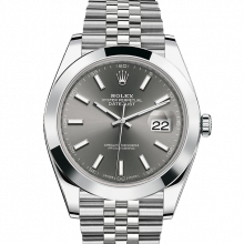 Rolex Datejust II 41 126300 Stainless Steel Dark Rhodium Index Dial & Smooth Bezel On Jubilee Bracelet - Unused Men's Watch