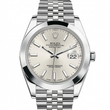 Rolex Datejust II 41 126300 Stainless Steel Silver Index Dial & Smooth Bezel On Jubilee Bracelet - Unused Men's Watch