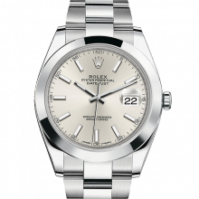 Rolex Datejust II 41 126300 Stainless Steel Silver Index Dial & Smooth Bezel On Oyster Bracelet - Unused Men's Watch