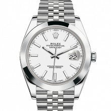 Rolex Datejust II 41 126300 Stainless Steel White Index Dial & Smooth Bezel On Jubilee Bracelet - Unused Men's Watch
