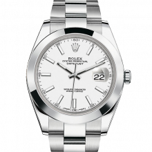 Rolex Datejust II 126300 Stainless Steel - White Index Dial - Smooth Bezel - Oyster Bracelet - New Style 41mm - UNUSED