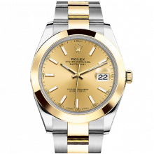 Rolex Datejust II 126303 18K Yellow Gold & Stainless Steel - Champagne Index Dial - Smooth Bezel - Oyster Bracelet - New Style 41mm - UNUSED