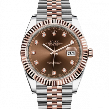 Rolex Datejust II 126331 18K Rose Gold & Stainless Steel - Chocolate Diamond Dial - Fluted Bezel - Jubilee Bracelet - New Style 41mm - UNUSED