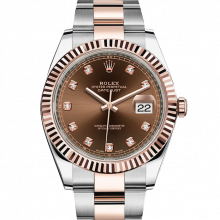 Rolex Datejust II 126331 18K Rose Gold & Stainless Steel - Chocolate Diamond Dial - Fluted Bezel - Oyster Bracelet - New Style 41mm - UNUSED