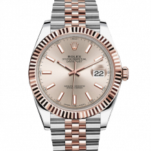 Rolex Datejust II 126331 18K Rose Gold & Stainless Steel - Sundust Index Dial - Fluted Bezel - Jubilee Bracelet - New Style 41mm - UNUSED