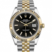 Rolex Datejust II 41 126333 18K Yellow Gold & Steel Black Index Dial & Fluted Bezel On Jubilee Bracelet - Unused Men's Watch