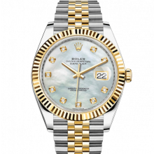Rolex Datejust II 126333 18K Yellow Gold & Stainless Steel - Mother of Pearl Diamond Dial - Fluted Bezel - Jubilee Bracelet - New Style 41mm - UNUSED