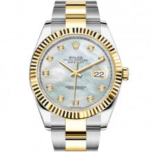 Rolex Datejust II 126333 18K Yellow Gold & Stainless Steel - Mother of Pearl Dial - Fluted Bezel - Oyster Bracelet - New Style 41mm - UNUSED