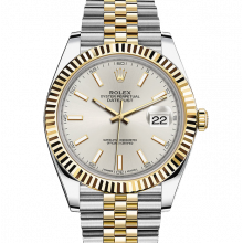Rolex Datejust II 126333 18K Yellow Gold & Stainless Steel - Silver Index Dial - Fluted Bezel - Jubilee Bracelet - New Style 41mm - UNUSED
