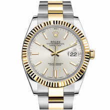 Rolex Datejust II 41 126333 18K Yellow Gold & Steel Silver Index Dial & Fluted Bezel On Oyster Bracelet - Unused Men's Watch