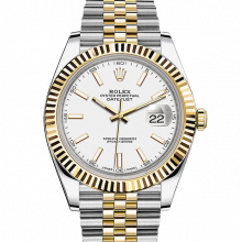 Rolex Datejust II 126333 18K Yellow Gold & Stainless Steel - White Index Dial - Fluted Bezel - Jubilee Bracelet - New Style 41mm - UNUSED