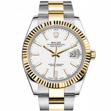 Rolex Datejust II 41 126333 18K Yellow Gold & Steel White Index Dial & Fluted Bezel On Oyster Bracelet - Unused Men's Watch
