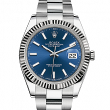 Rolex Datejust II 41 126334 Stainless Steel Blue Index Dial & Fluted Bezel On Oyster Bracelet - Unused Men's Watch
