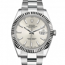 Rolex Datejust II 126334 Stainless Steel -Silver Index Dial - Fluted Bezel - Oyster Bracelet - New Style 41mm - UNUSED